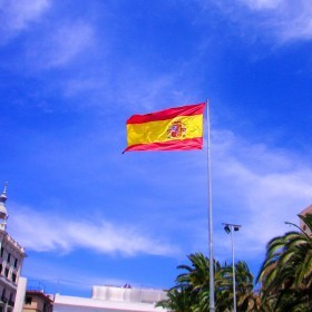 España bandera Plaza del Mar Alicante2 copia