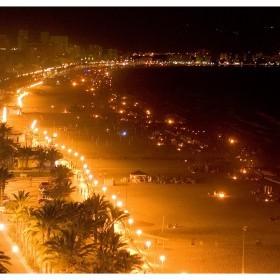 1403597311_Fuegos de la noche de San Juan en la playa de San Juan