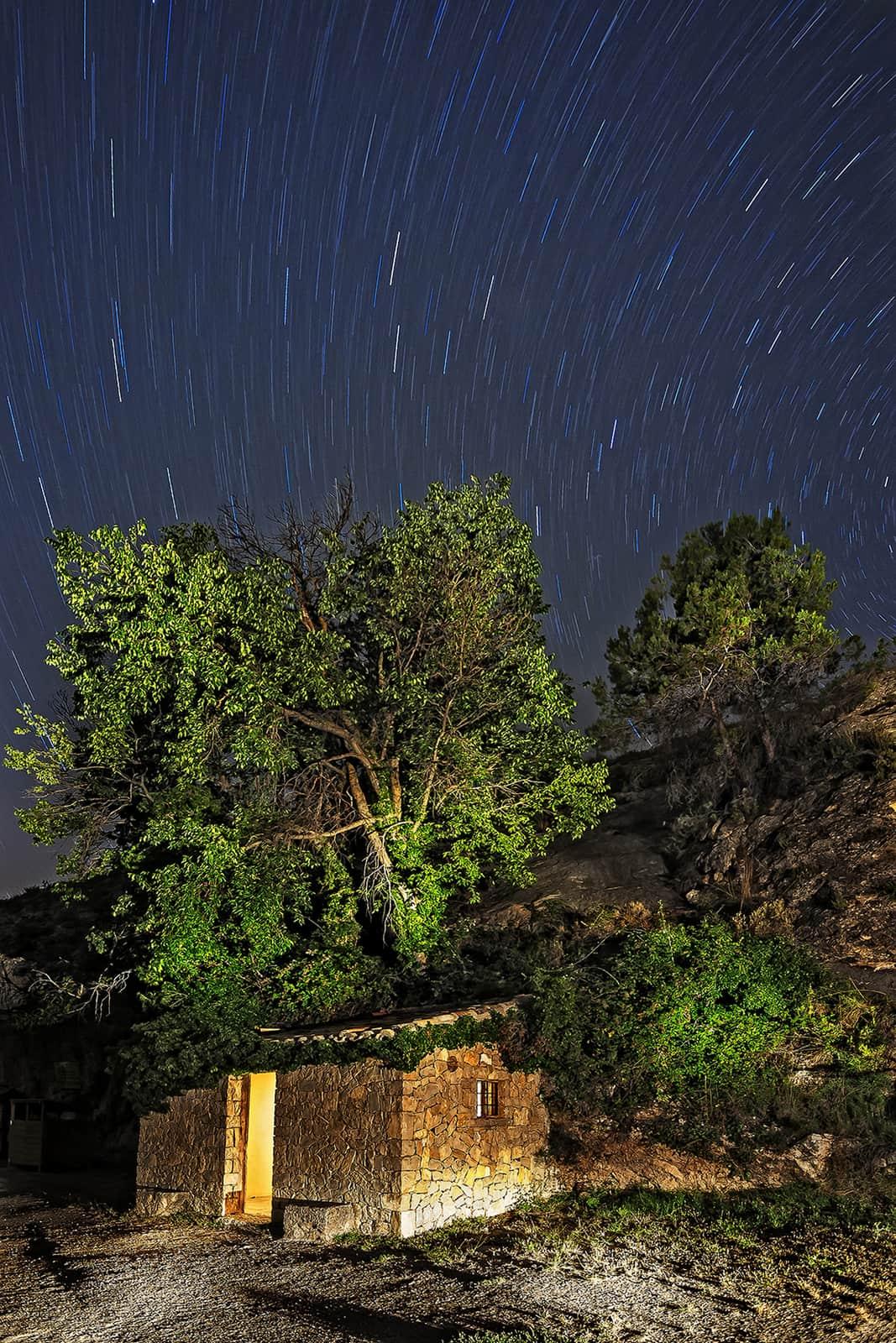 nocturna en el barranco de los molinos de ibi
