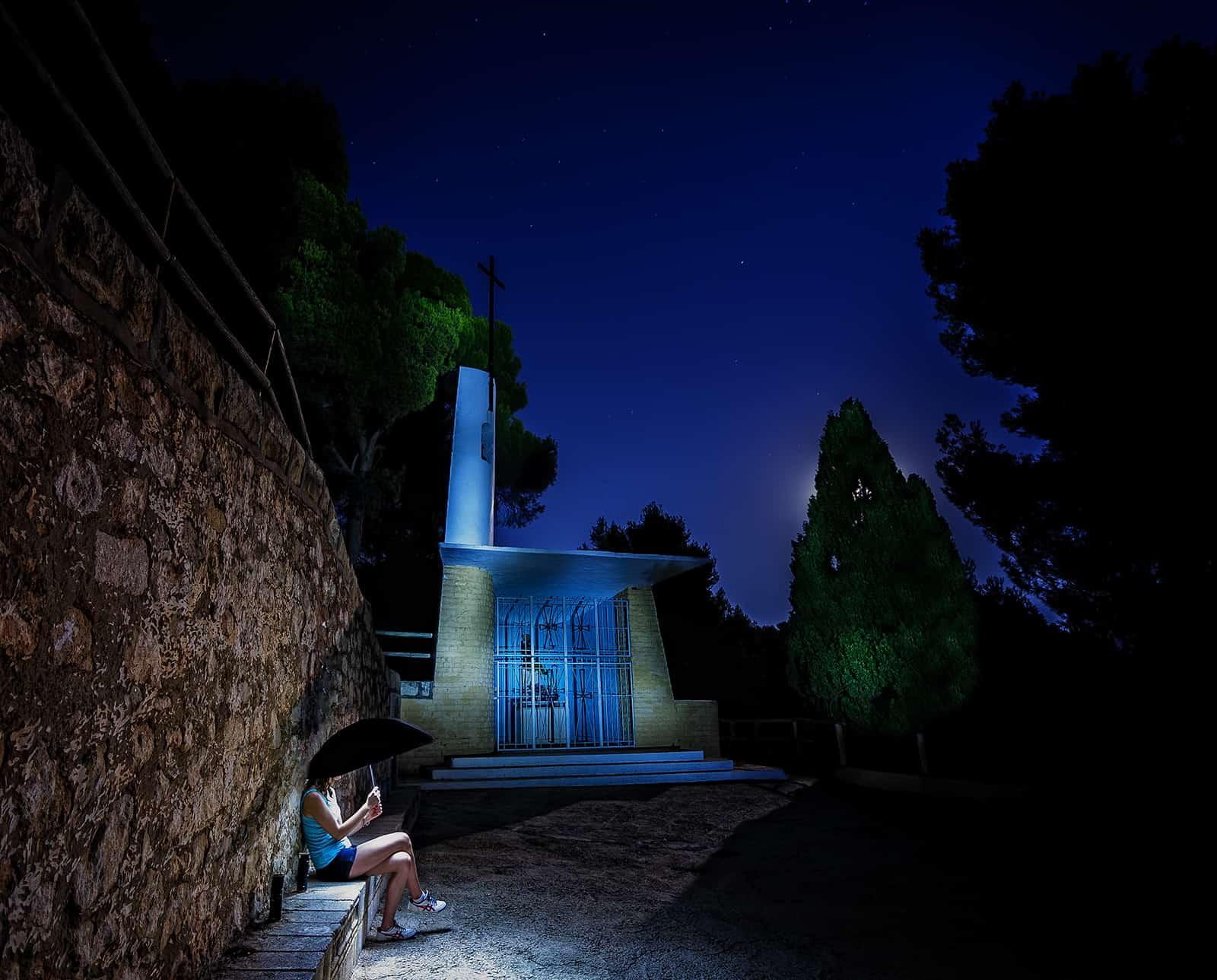 nocturna con luna llena