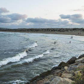 las dunas y el mar