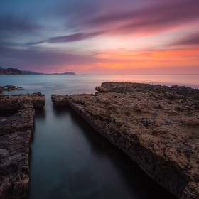 Lovely dawn at els Banyets de la Reina (el Campello, Alacant).