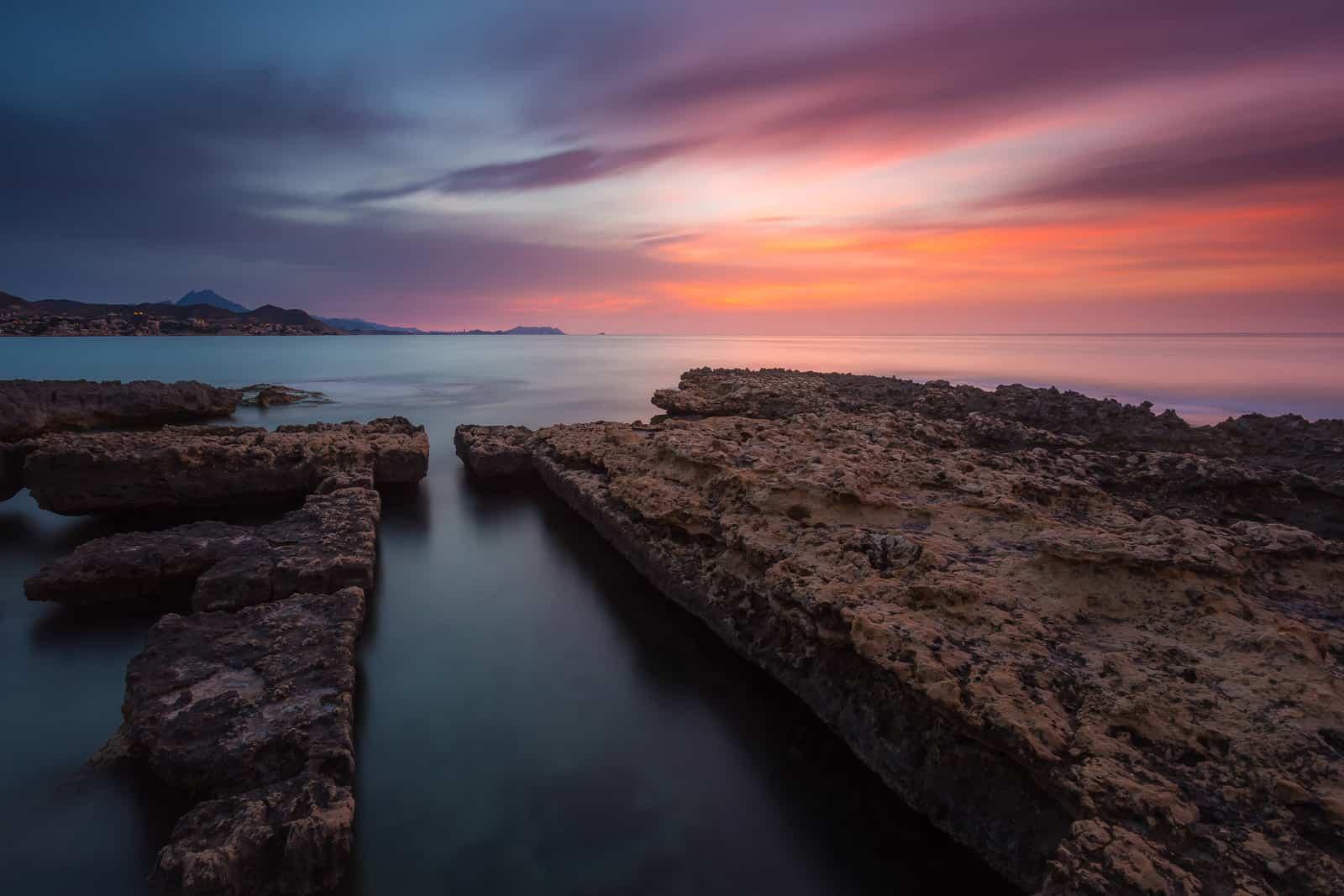 Lovely dawn at els Banyets de la Reina (el Campello, Alacant).