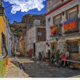 Calle San Antonio, Barrio Santa Cruz, Alicante