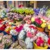 Puesto de las flores del mercadillo de Benalua