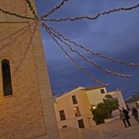 nadal a la plaça de la esglesia en altea